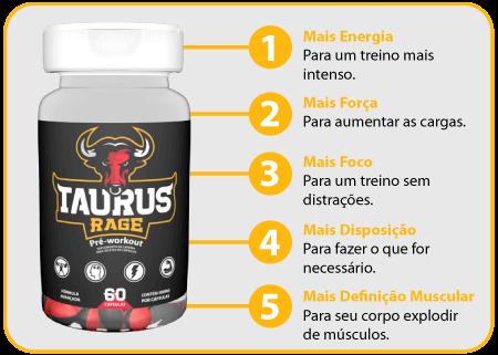 Taurus Rage Benefícios